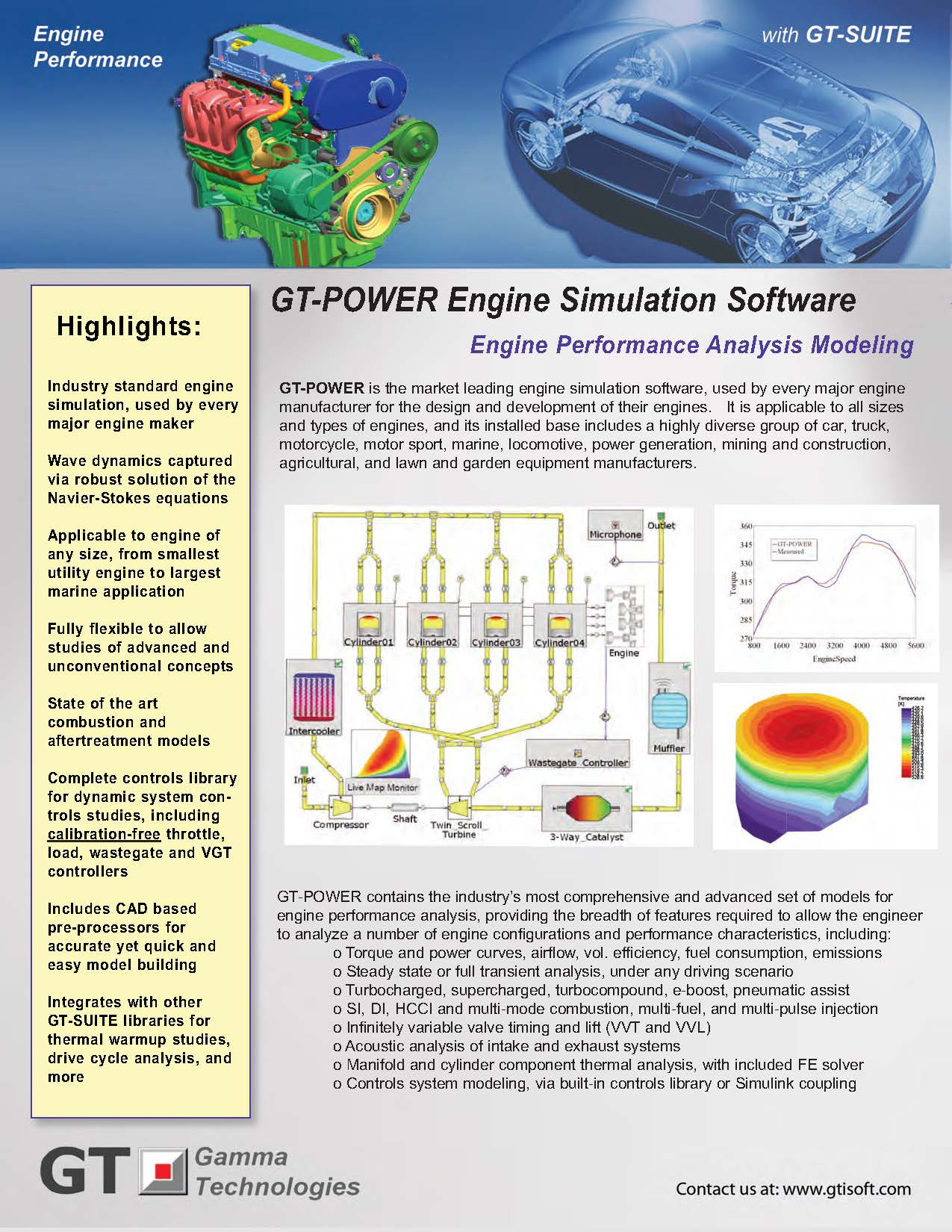 Gt Power Engine Simulation Software Gamma Technologies