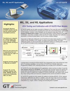 Control System Modeling | SiL & HiL Simulation | GT-SUITE